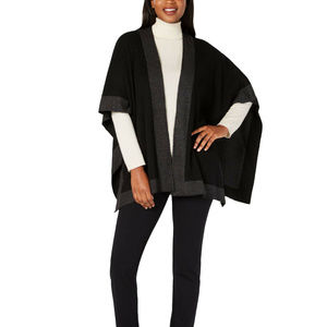 Charter Club Women's Solid Knit Reversible Poncho